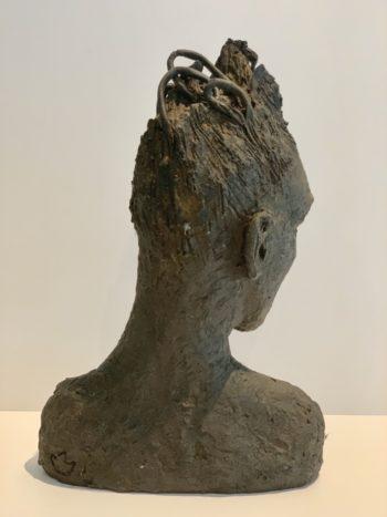 sculpture contemporaine figurative visage androgyne