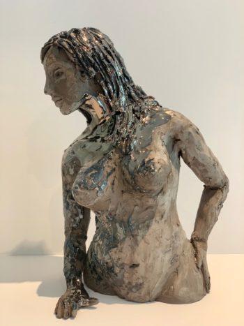sculpture femme céramique pièce unique