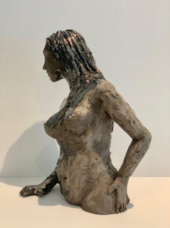 profil de femme scuplture pièce unique