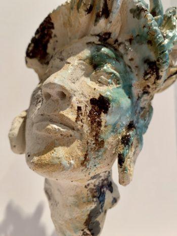 sculpture gros plan émail émaux céramique