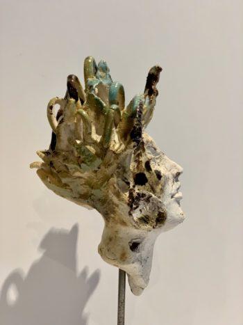 céramique visage nature sculpture clay