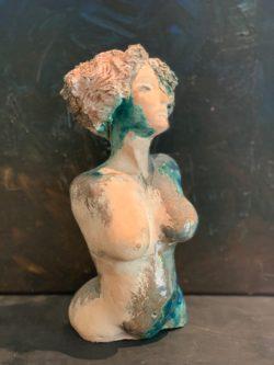 sculpture buste femme pièce unique sculptrice