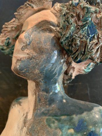 sculpture onirique modelage terre pièce unique