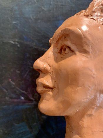 sculpture terre cuite sans modèle scuplteur sculptrice