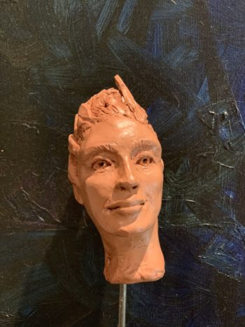 portrait argile tere cuite sculpteur lyon