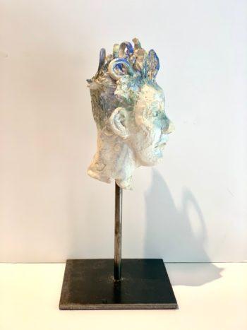 profil homme sculpture pièce unique lyon