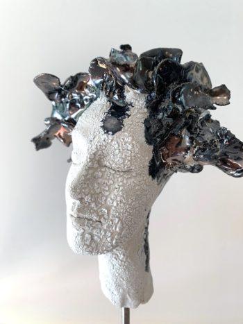 visage femme sculpté lyon