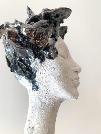 sculpture profil de femme pièce unique