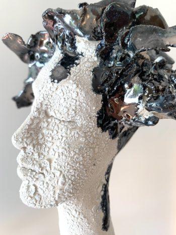 portrait de femme sculpture claire michelini