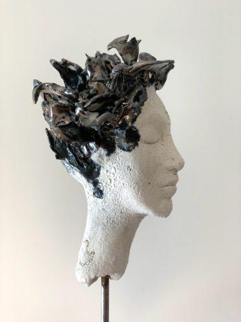 sculpture pièce unique terre cuite céramique lyon