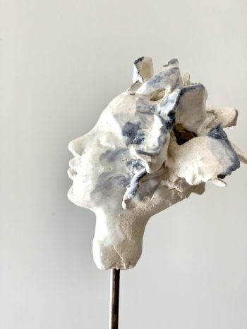 profil sculpté femme visage céramique pièce unique