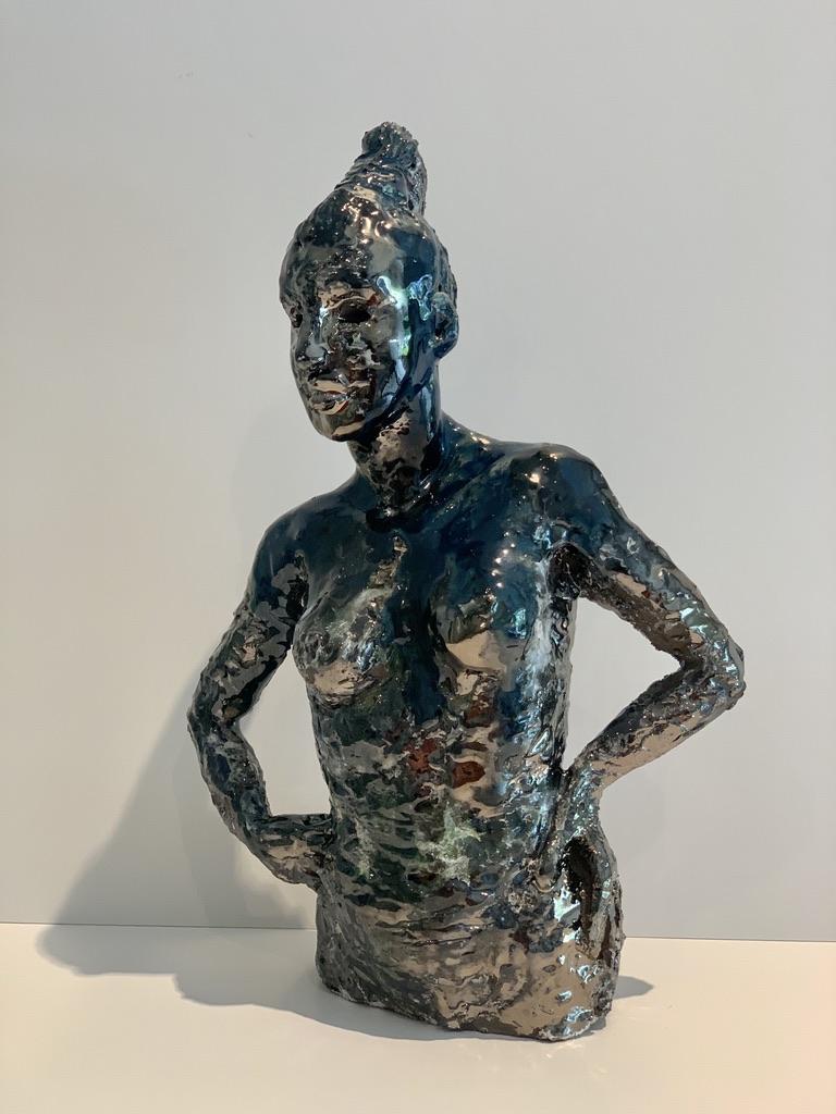 mélange d'émaux céramique sculpture femme claire michelini
