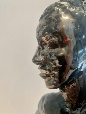 profil femme sculpture céramique claire michelini
