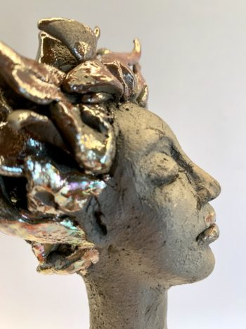 céramique raku visage sculpture claymee.com