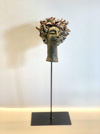 profil de femme raku céramique lyon clairemichelini.com