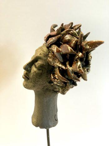 art figuratif lyon tête de femme sculpture